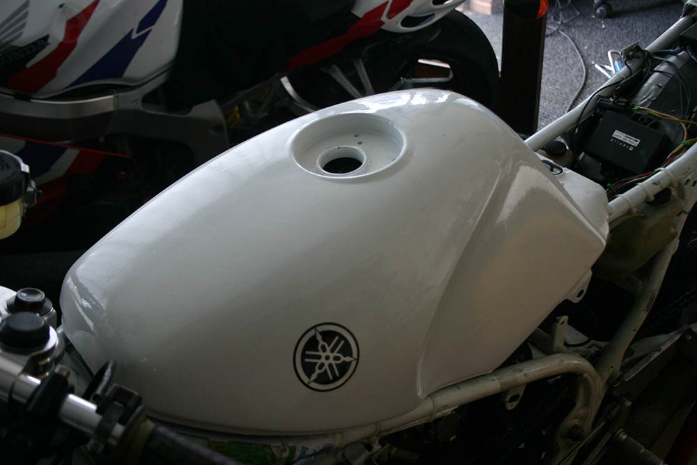 Image of Yamaha Past Masters race bike fuel tank