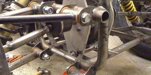 Image of Rear suspension detail of kit car built in our workshop