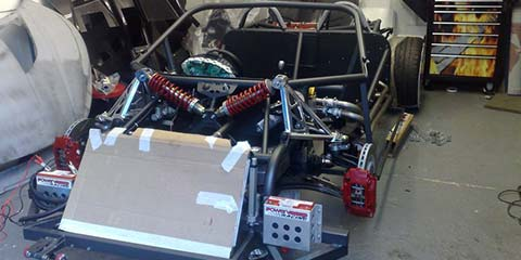 Image of The kit car takes shape in our workshop