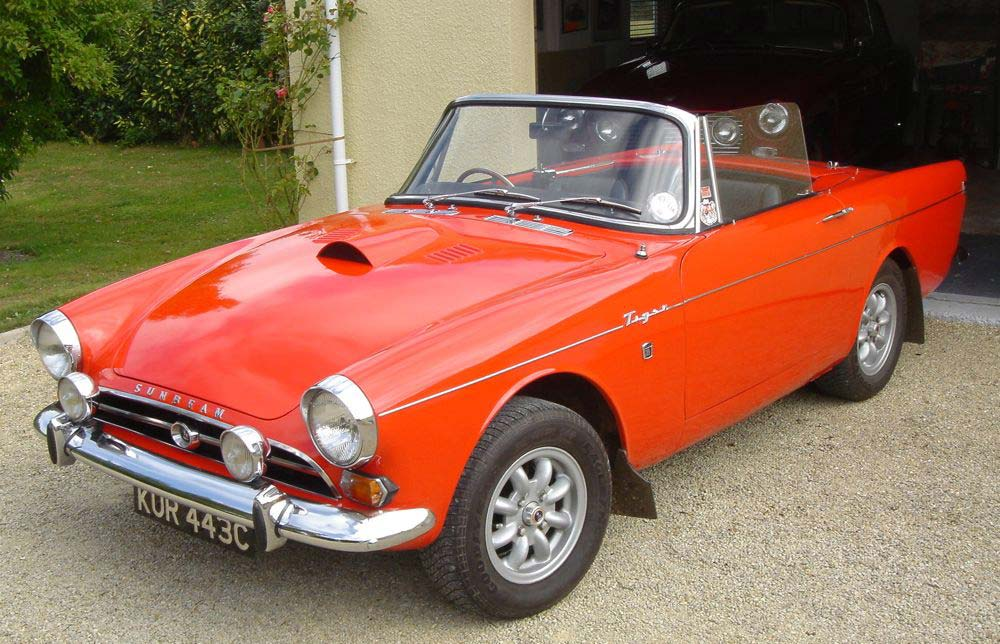 Image of Sunbeam Tiger Louvred Bonnet With Scoop   08